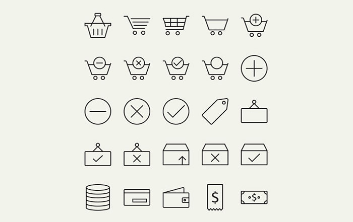 outline-e-commerce-icons