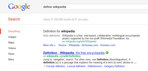 get definitions