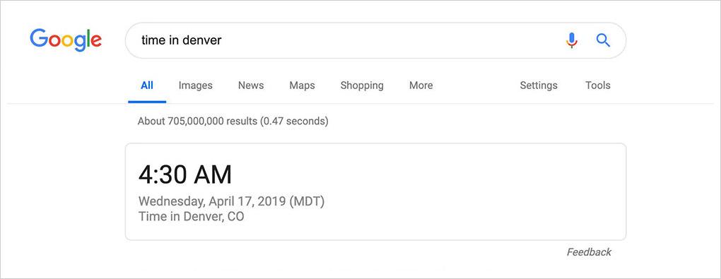 google get time