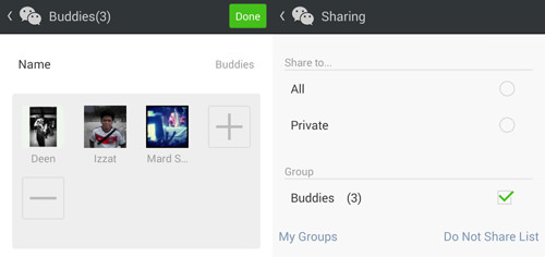 Share Moments with Group