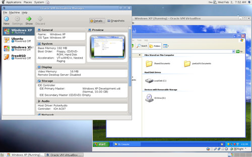 linux virtual machine