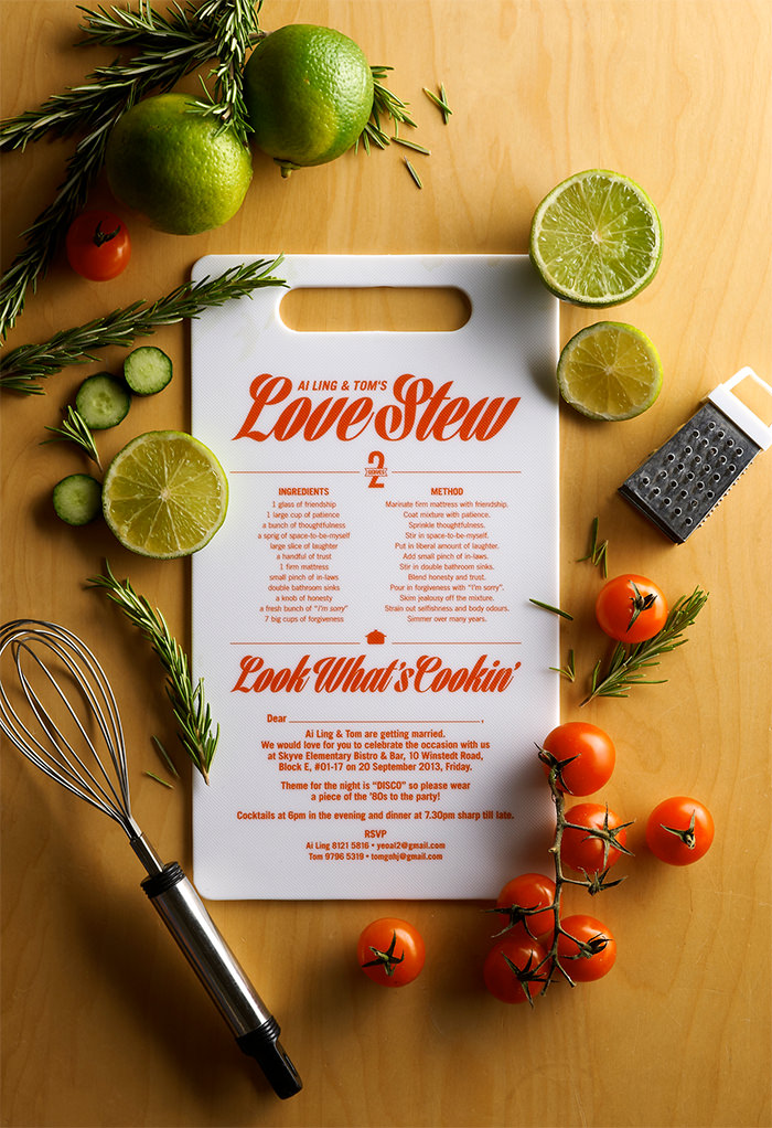 the recipe for love - Unique Wedding Invitation Ideas