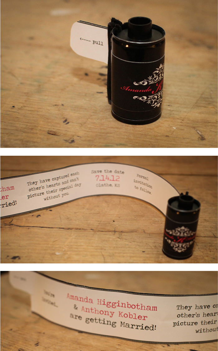 Film Canister Invitation