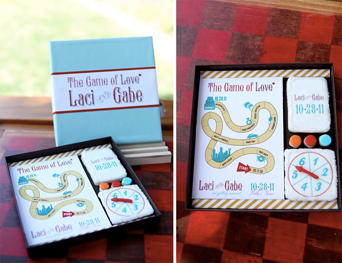 board game cookies - Unique Wedding Invitation Ideas
