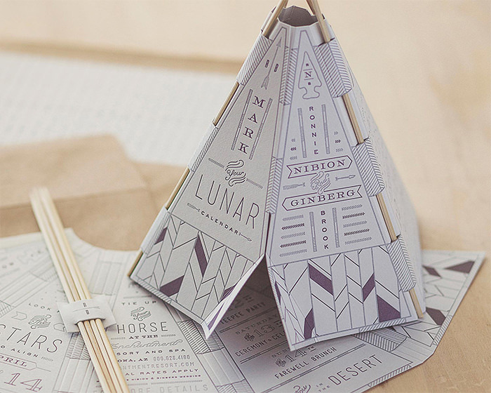 teepee invite - Wedding Invitation Design Ideas