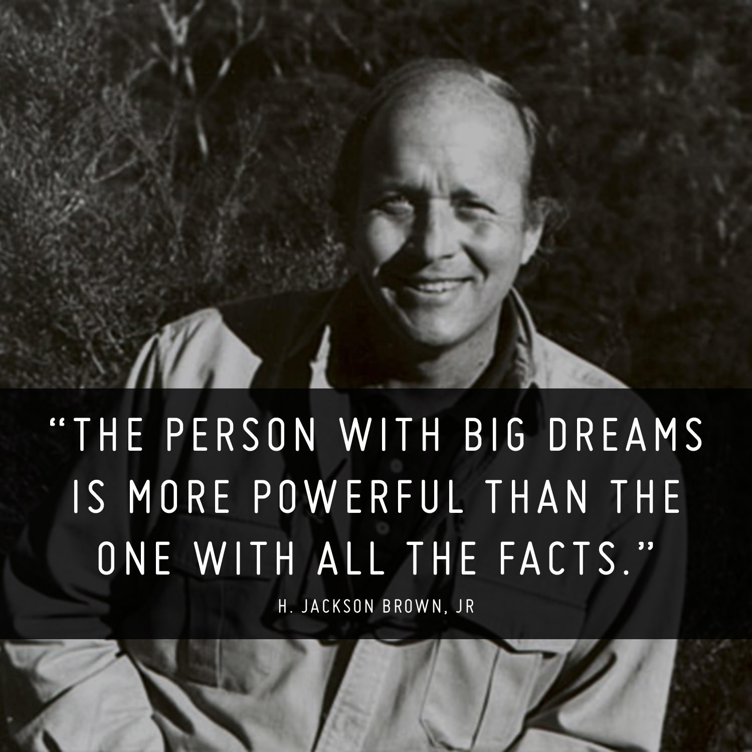 The person with big dreams is more powerful than the one with all the facts. - H. Jackson Brown, Jr.