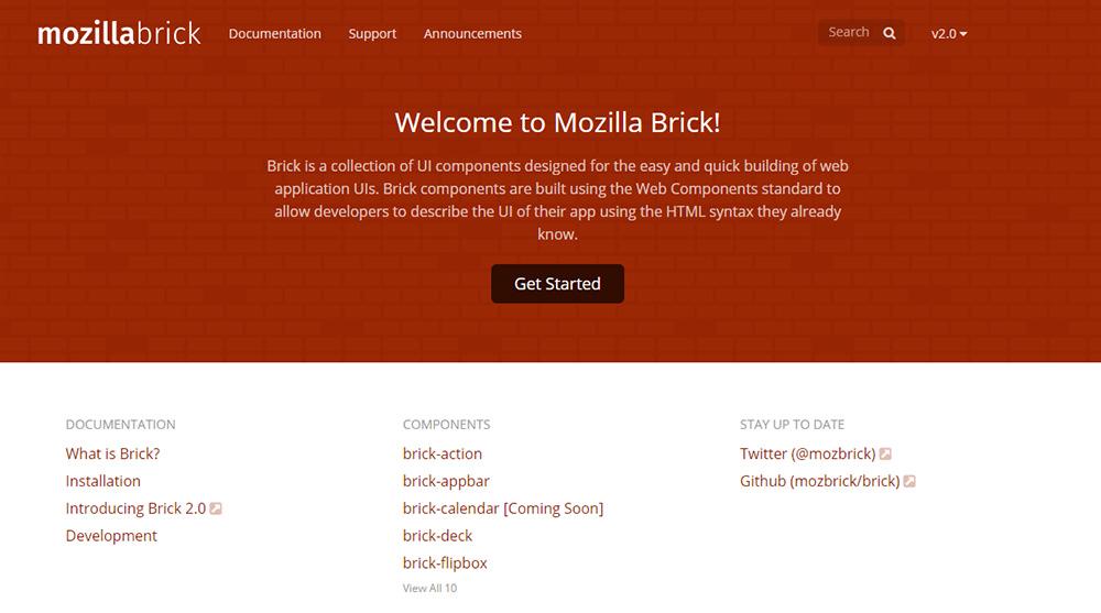 mozilla brick homepage