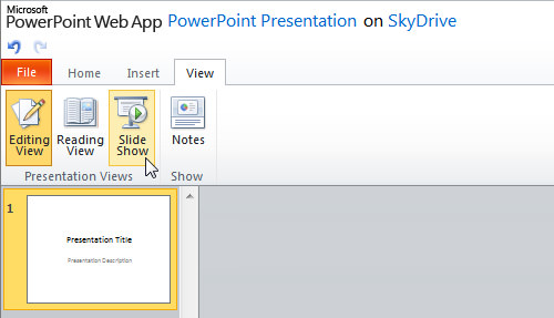 SkyDrive PowerPoint App
