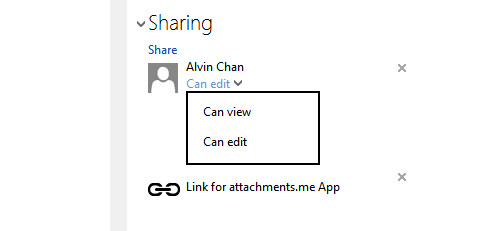 SkyDrive Quick Sharing Options