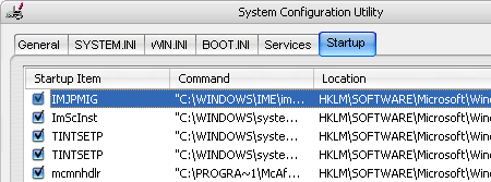 windows msconfig