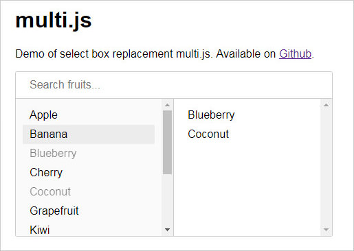 Multi.js select plugin