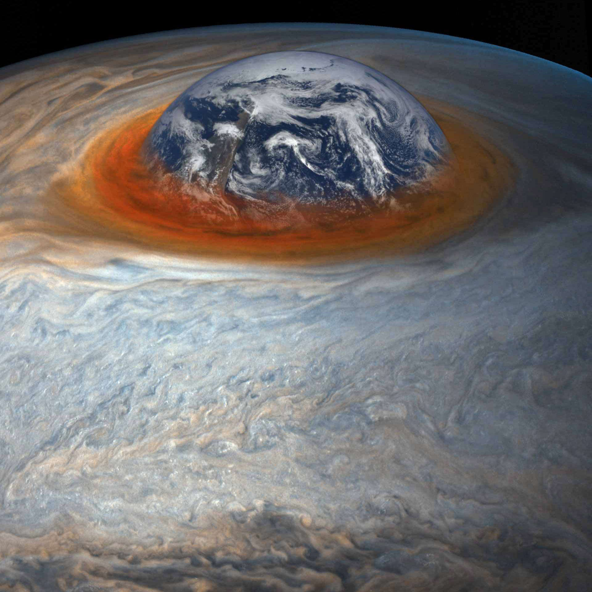 GREAT RED SPOT EATS EARTH!