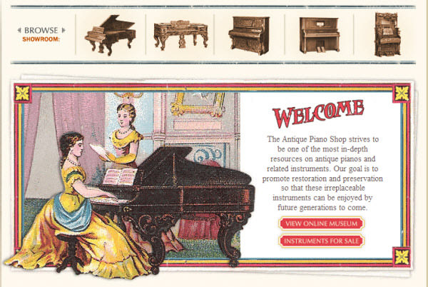 the antique piano shop