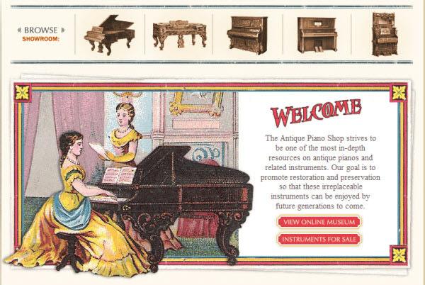 the antique piano shop