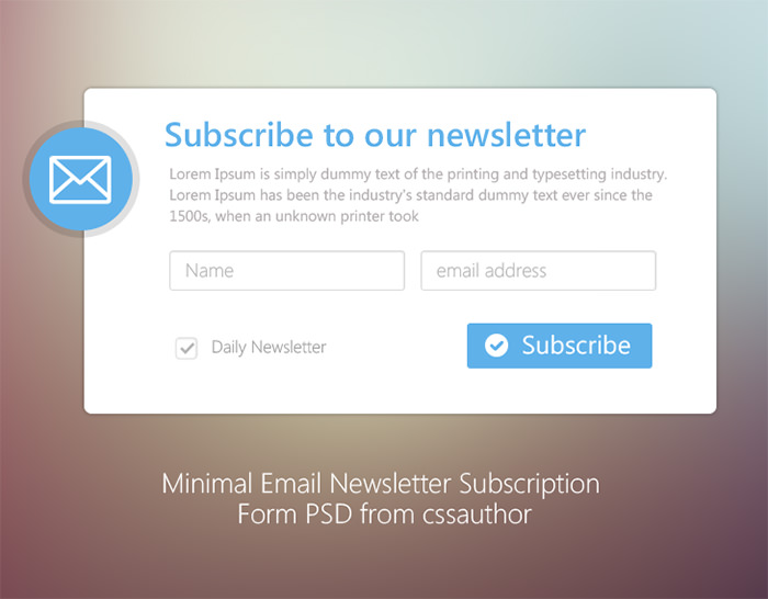 Newsletter Signup Forms Inspirations Free Templates And Tools Hongkiat
