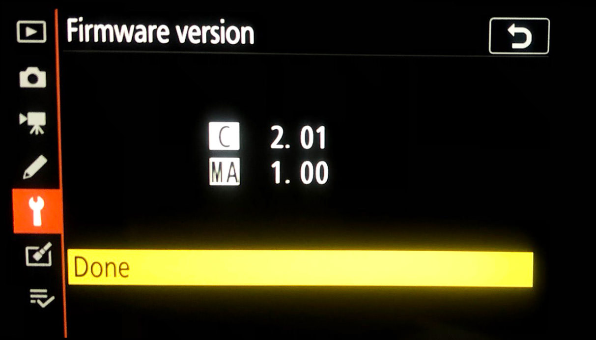 firmware updated