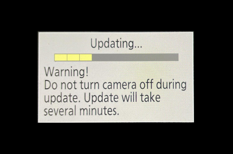 firmware updating status