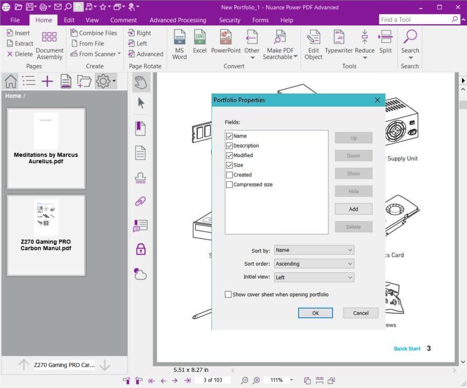 Create PDF Portfolio in Power PDF