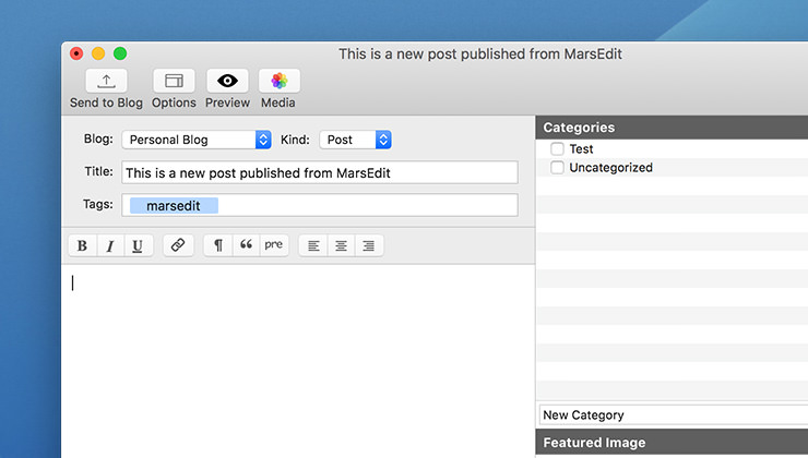 marsedit post editor