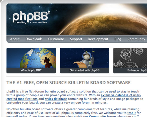 free open source phpBB bulletin board solution