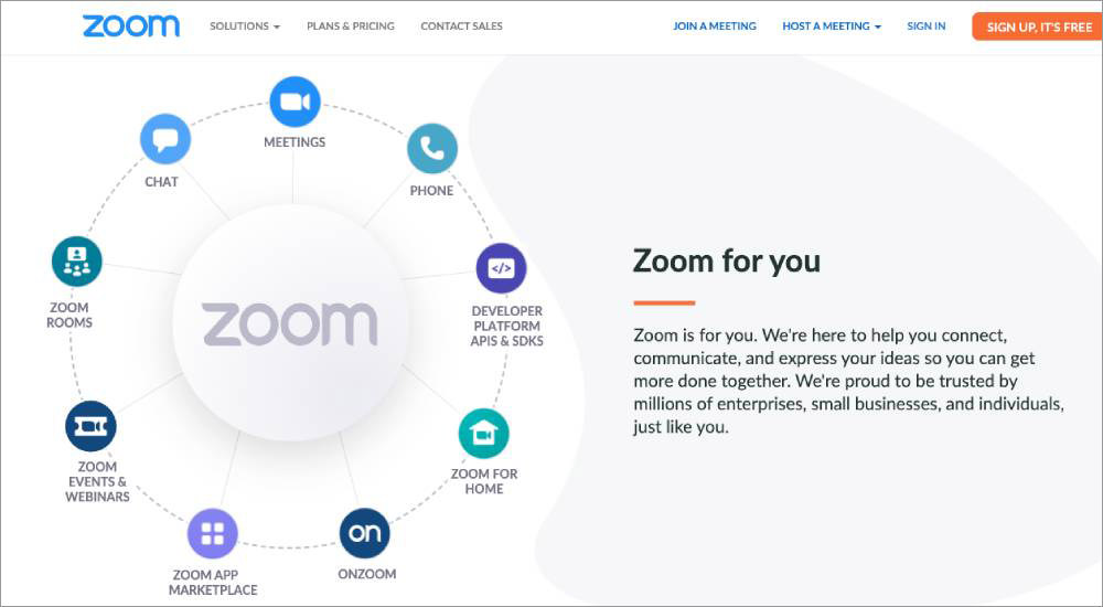 Online meeting and conferencing tools Zoom