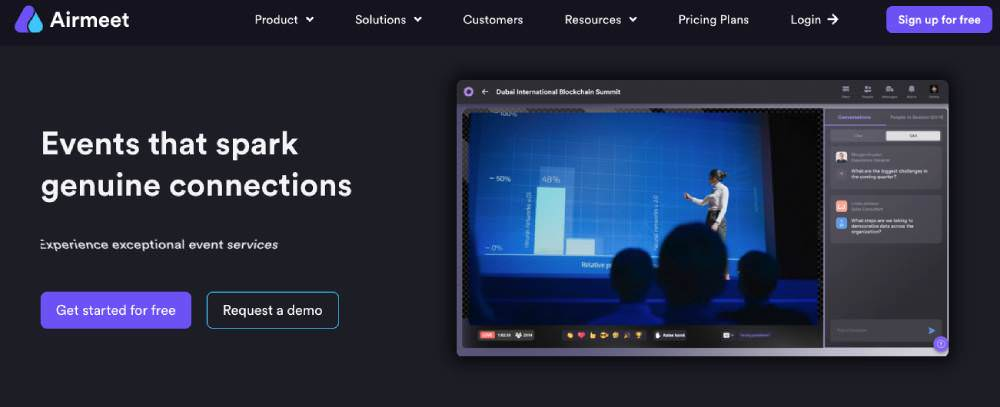 Online meeting and conferencing tools Airmeet