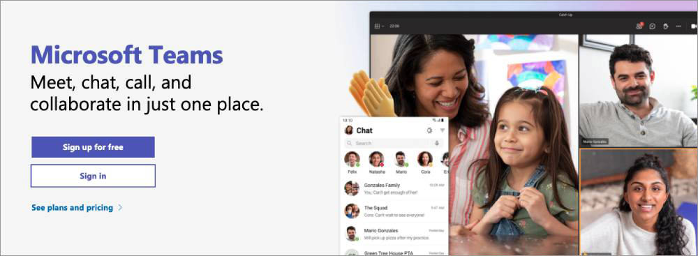 Online meeting and conferencing tools Microsoft Teams