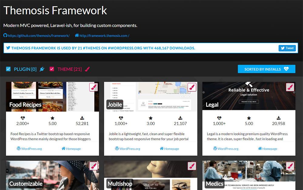 IncludeWP frameworks