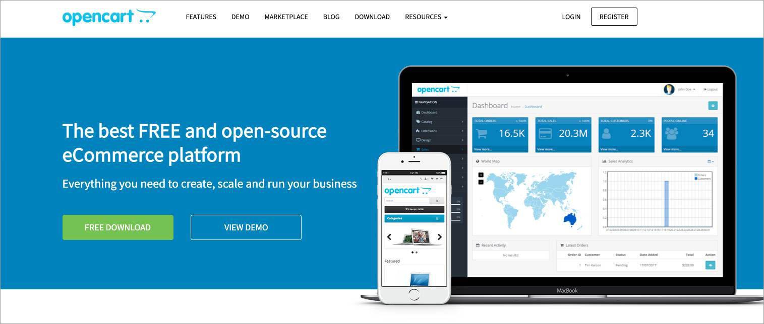 open-source ecommerce shopping cart Open Cart