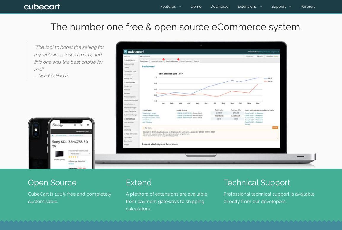 open-source ecommerce shopping cart CubeCart