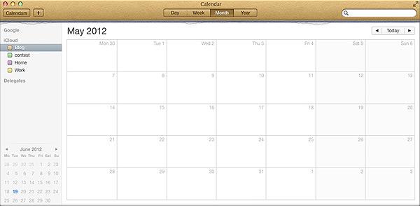 calendar side panel