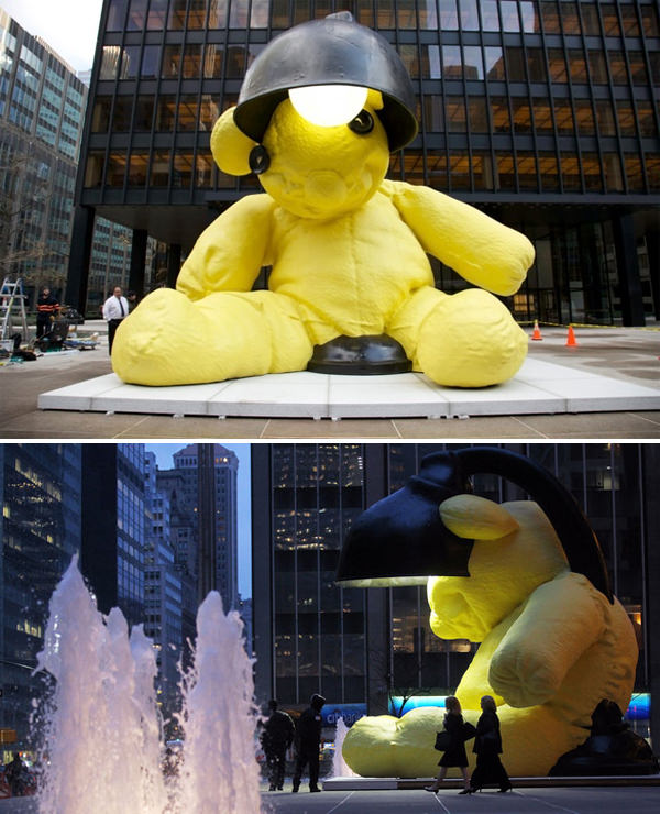 Giant Yellow Teddy Bear