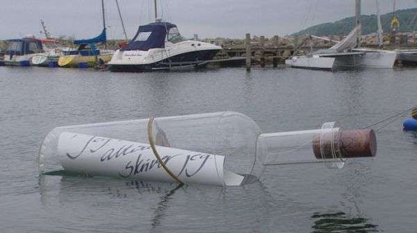 Giant Message in a Bottle