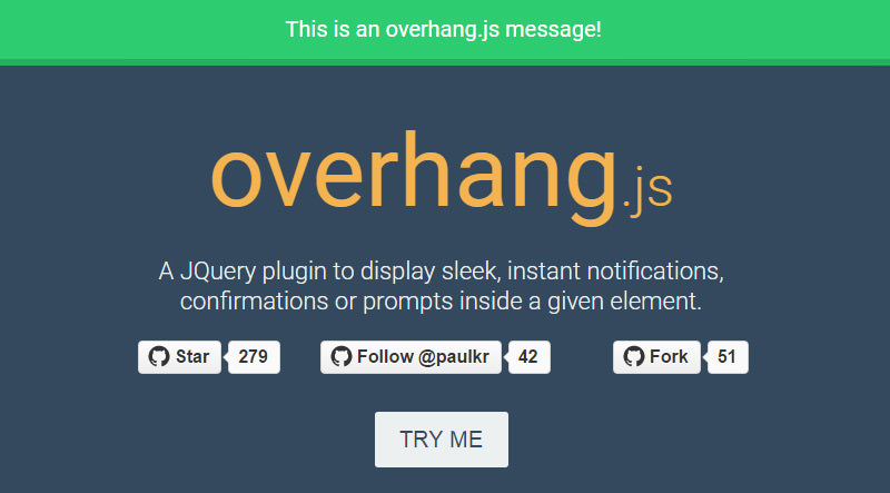 overhang js