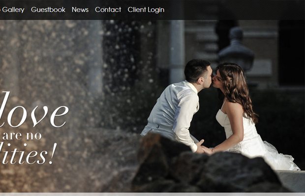 wedding europe website layout big photography