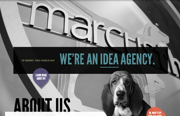 idea design agency website layout big photos