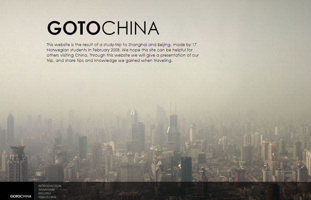 Ringve Media website layout big photo background China
