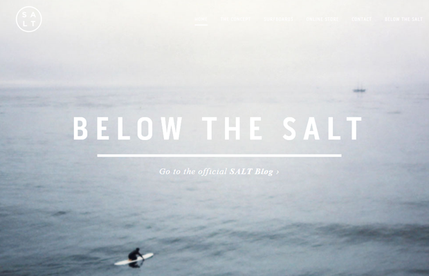 retail website layout salt surf california ocean