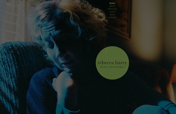 writer and film director Rebecca Barry website layout 2012