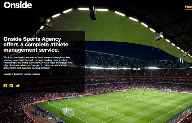 Onside Sports agency website studio classic