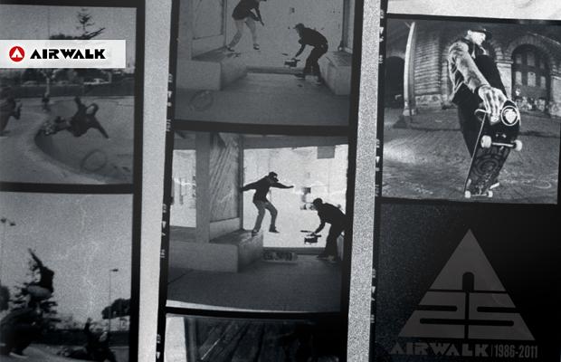 Airwalk skateboard branding design website layout