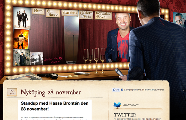 Hasse Bronten website comedian German background photos CSS