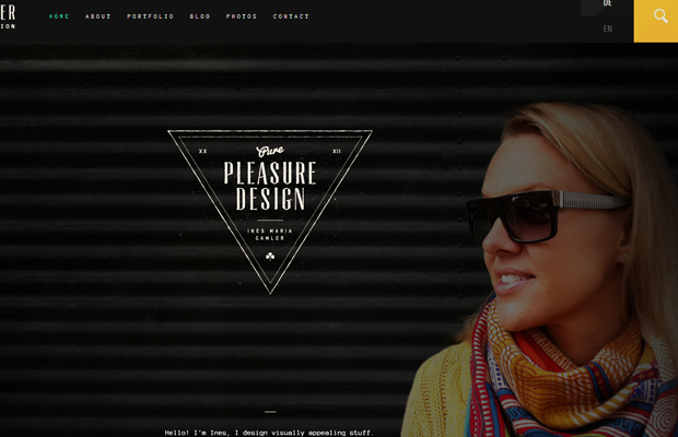pure pleasure design Ines Maria Gamler website layout