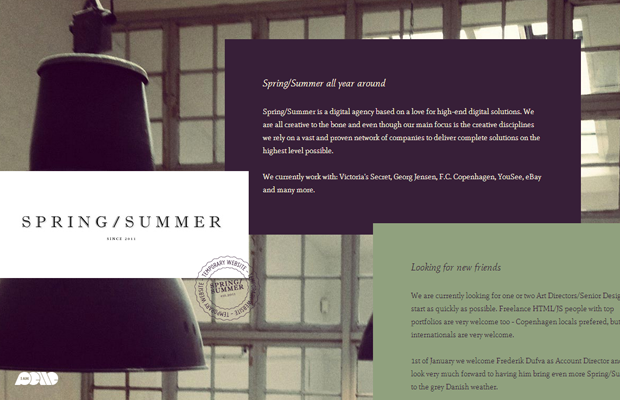 Spring Summer website layout design inspiration