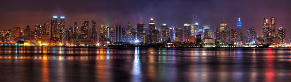 Night Panorama NYC From Jersey