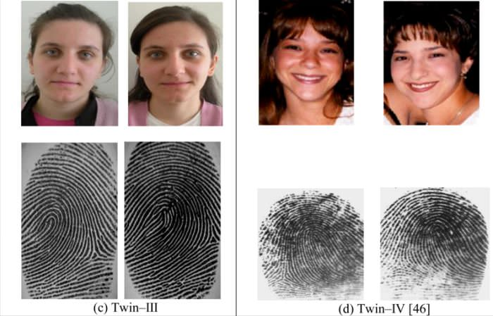 Fingerprints of identical twins