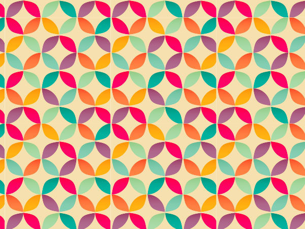 Bright Geometric Circle Pattern