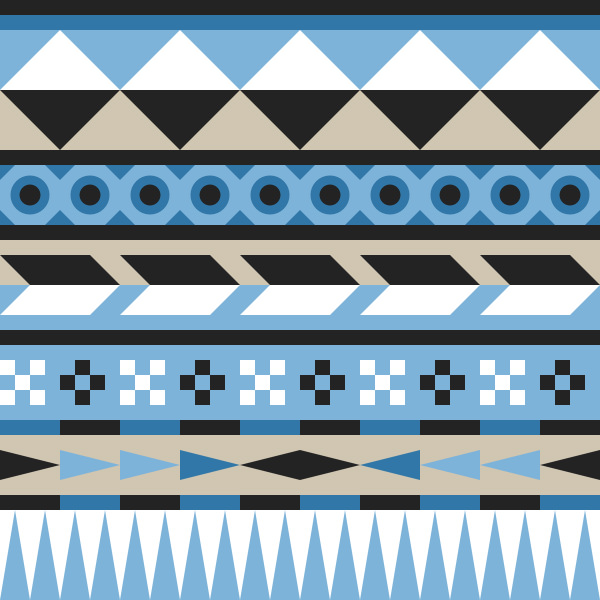 Easy Geometric Aztec Pattern