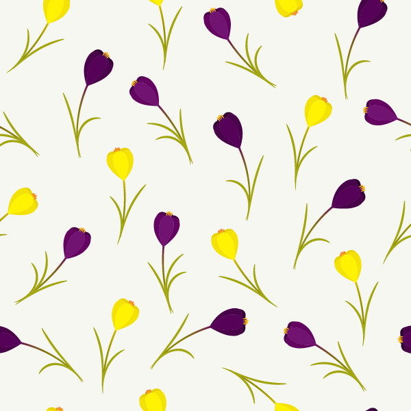 Spring Floral Pattern in Adobe Illustrator