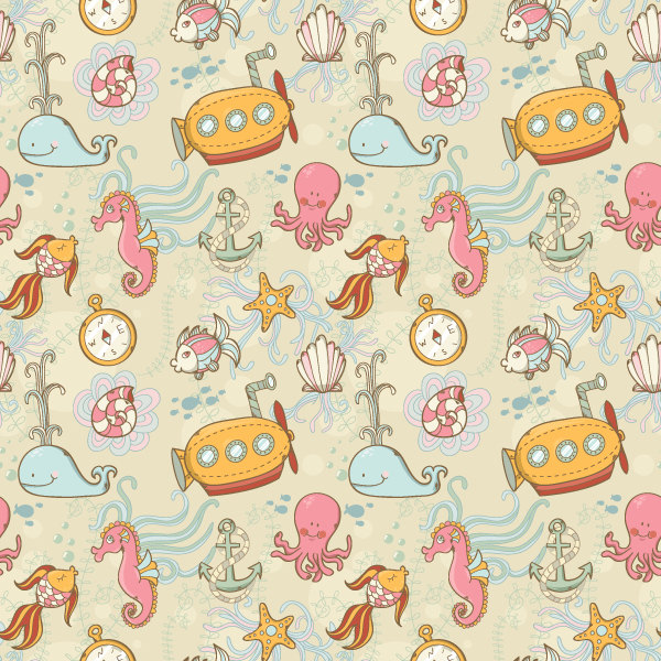 Summer Underwater Seamless Pattern